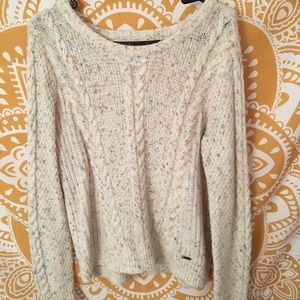 hollister splash of color cable knit sweater